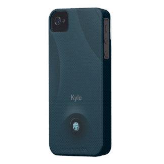 acero azul iPhone 4 fundas