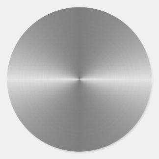 acero circular ancho pegatina redonda