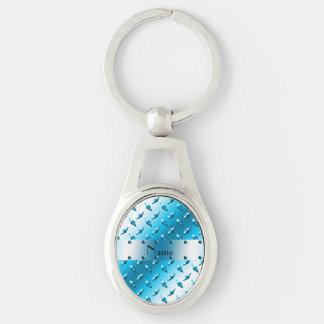 Acero conocido de encargo de la placa del diamante llaveros