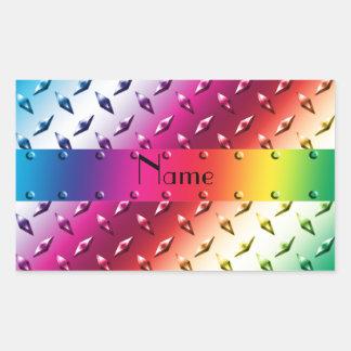 Acero conocido personalizado de la placa del pegatina rectangular