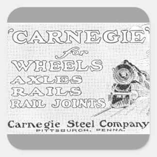 Acero de Carnegie para los carriles de las ruedas Calcomanía Cuadradas
