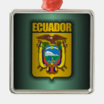 """Acero de Ecuador "" Adorno Cuadrado Plateado"