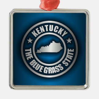 """Acero de Kentucky (azul) "" Adorno Navideño Cuadrado De Metal"