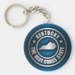 """""""Acero de Kentucky (azul) """" Llavero Redondo Tipo Pin"""