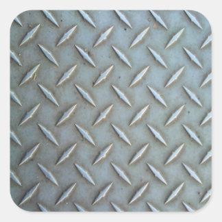 Acero de la placa del diamante pegatina cuadrada