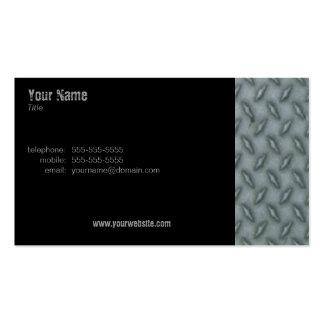 Acero de la placa del diamante tarjetas de visita
