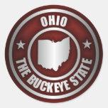 Acero de Ohio (rojo) Etiquetas Redondas