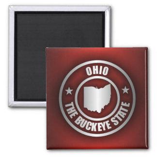 Acero de Ohio (rojo) Imán Cuadrado