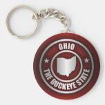 Acero de Ohio (rojo) Llavero Personalizado