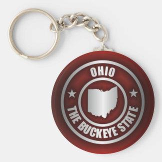 Acero de Ohio (rojo) Llavero Redondo Tipo Pin