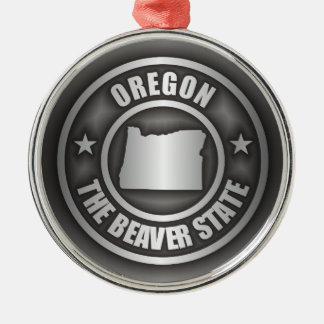 Acero de Oregon Adorno Navideño Redondo De Metal