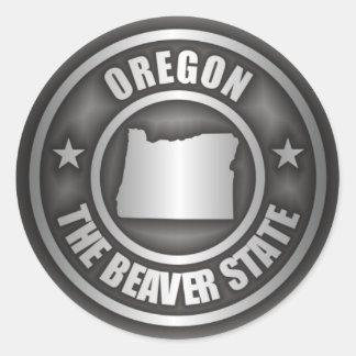 Acero de Oregon Pegatina Redonda
