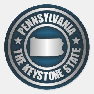 Acero de Pennsylvania (b) Pegatina Redonda