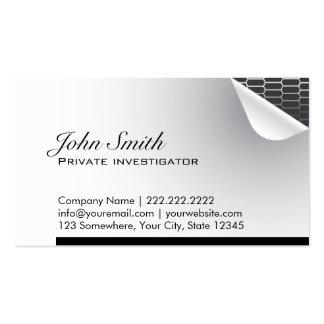 Acero dentro de la tarjeta de visita del investiga