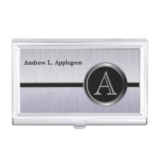 Acero ejecutivo del cepillo del diseño el | cajas de tarjetas de presentación