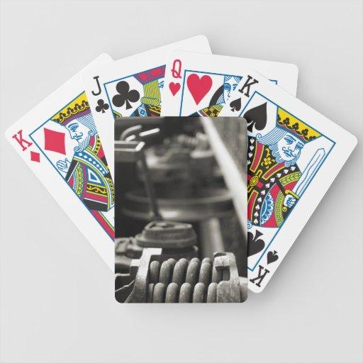 Acero - el tren salta los naipes baraja de cartas