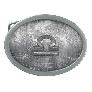 Acero industrial apenado símbolo del zodiaco del hebilla de cinturon oval