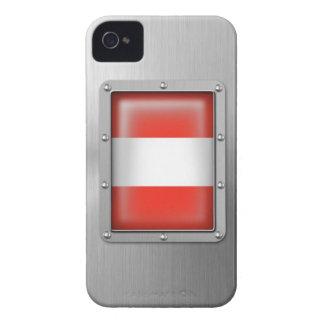 Acero inoxidable austríaco iPhone 4 cárcasas