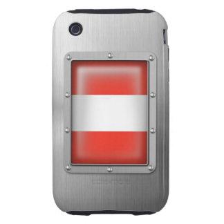 Acero inoxidable austríaco funda though para iPhone 3