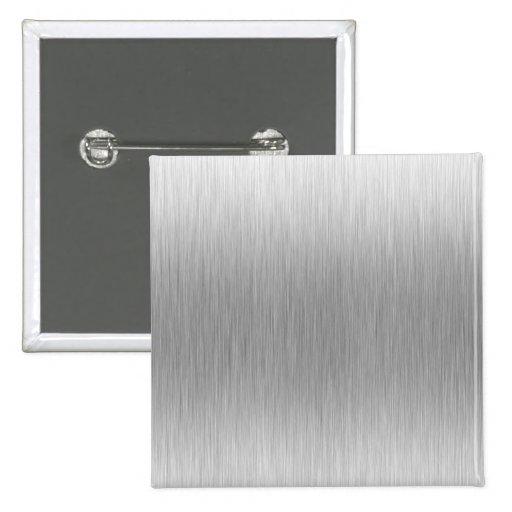 Acero inoxidable de aluminio cepillado texturizado pin cuadrado