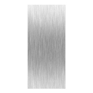 Acero inoxidable de aluminio cepillado texturizado tarjeta publicitaria a todo color