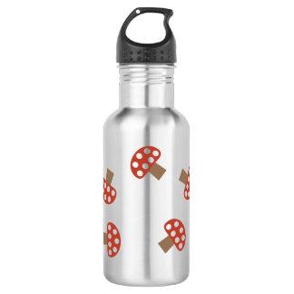Acero inoxidable de la botella de agua de la seta