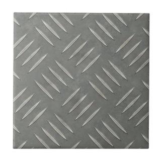 Acero inoxidable de la placa del diamante texturiz azulejo cuadrado pequeño