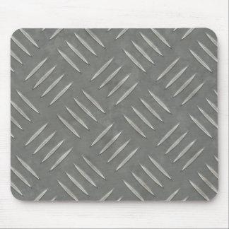 Acero inoxidable de la placa del diamante texturiz tapete de raton