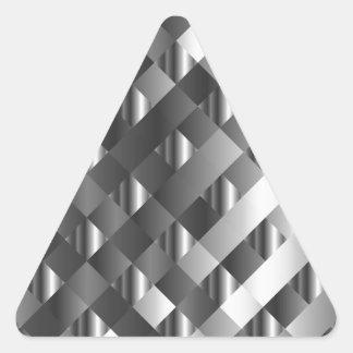 Acero inoxidable del alto grado pegatina triangular