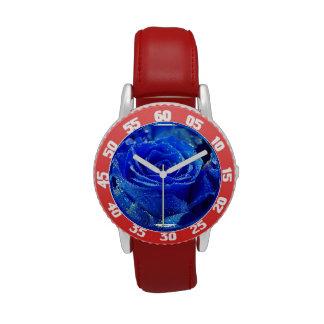 Acero inoxidable del bisel ajustable del niño con reloj de mano