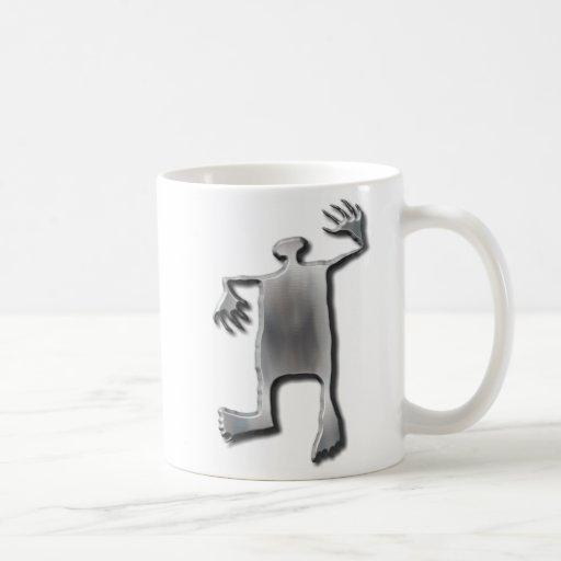 Acero inoxidable del hombre del baile tazas de café