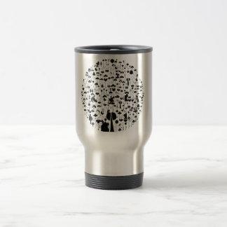 Acero inoxidable el doodling de la taza del