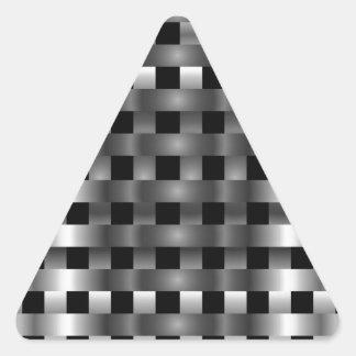 Acero inoxidable pegatina triangular