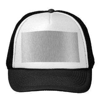 Acero inoxidable texturizado gorras