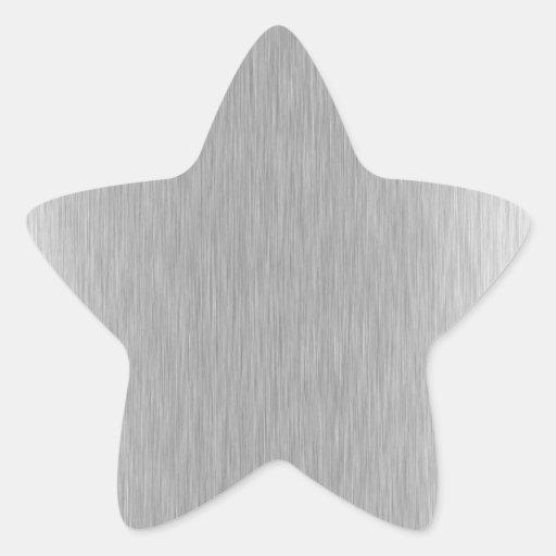 Acero inoxidable texturizado pegatinas forma de estrellaes personalizadas