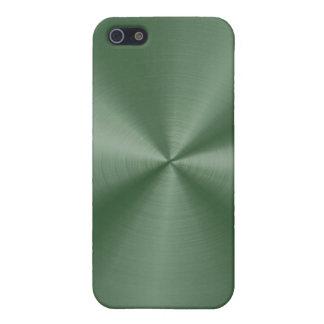 Acero inoxidable verde oscuro iPhone 5 fundas