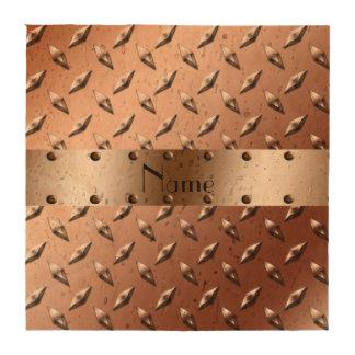 Acero marrón brillante conocido de encargo de la posavasos