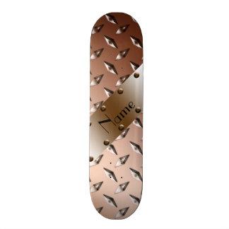 Acero marrón brillante conocido de encargo de la skateboards