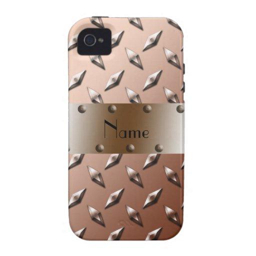Acero marrón conocido personalizado de la placa de iPhone 4 fundas