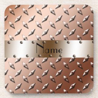 Acero marrón conocido personalizado de la placa posavasos
