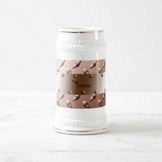 Acero marrón conocido personalizado de la placa jarra de cerveza