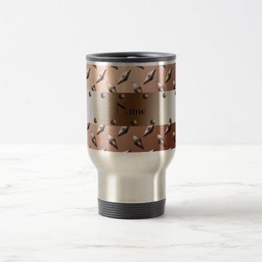 Acero marrón conocido personalizado de la placa taza de viaje de acero inoxidable