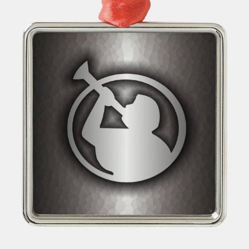 Acero mormón ornamento para arbol de navidad