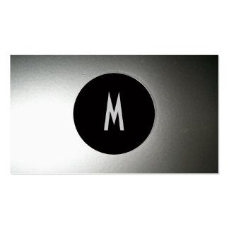 Acero negro/de plata de Bro moderno elegante Tarjetas De Visita