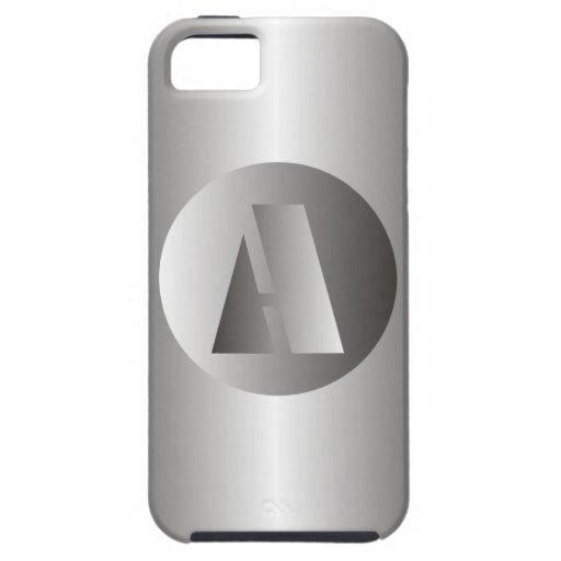 "Acero pulido ""A "" Funda Para iPhone SE/5/5s"