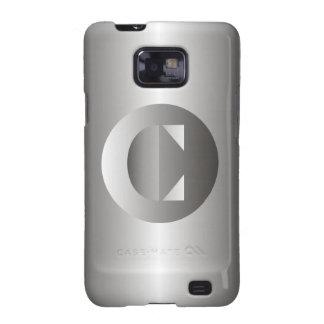 """Acero pulido """"C """" Samsung Galaxy SII Fundas"""
