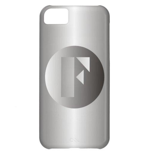 """Acero pulido """"F """" Funda Para iPhone 5C"""