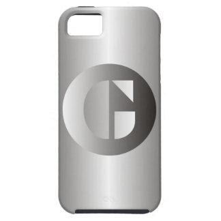 "Acero pulido ""G "" iPhone 5 Fundas"