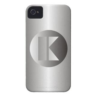 "Acero pulido ""K "" iPhone 4 Funda"