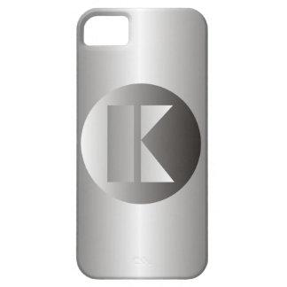"Acero pulido ""K "" iPhone 5 Carcasas"